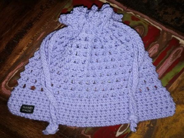 Lilac Drawstring Bag Large (230mm x 230mm)