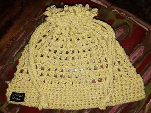 Sunshine Yellow Drawstring Bag Medium (190 x 190mm)