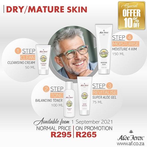 Dry Mature Male Skincare Set